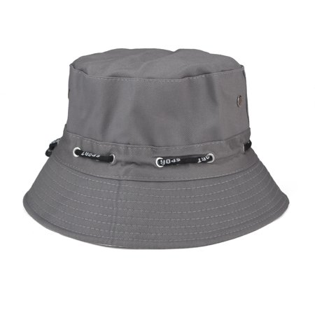 Opromo Blank Adjustable Cotton Twill Bucket Hat Outdoor Summer Hat-Grey Camouflage Cotton Twill Cap