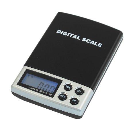 Unique Bargains Unique Bargains 200g Blue Backlight Digital Weight Pocket  Scale w Pouch