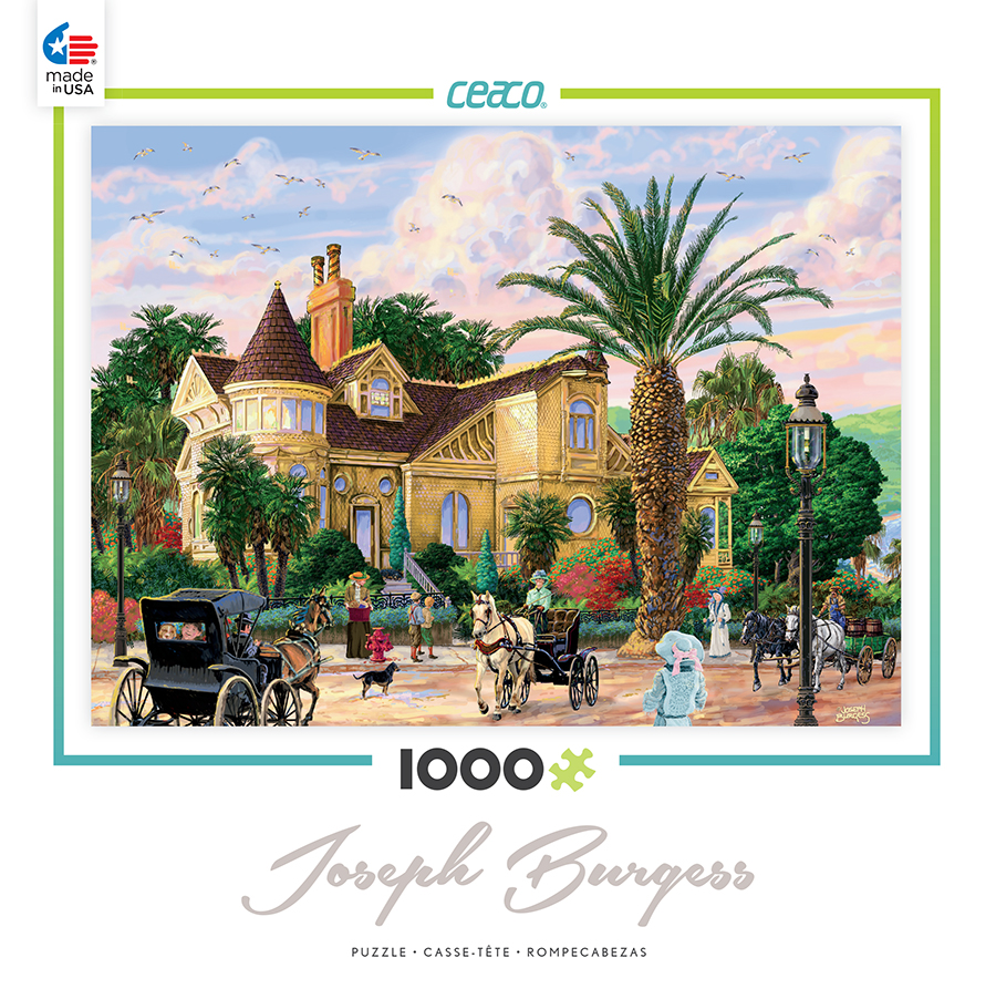 Ceaco 1000 Piece Jigsaw Puzzle Joseph Burgess - Lockrie Manor #3384-01