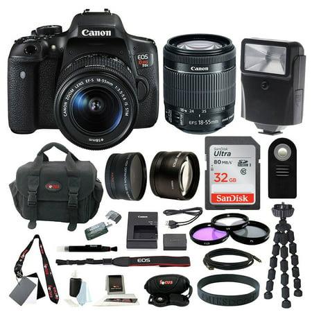 Canon EOS Rebel T6i Digital Camera with EF-S 18-55mm f/3.5-5.6 IS STM lens + kit