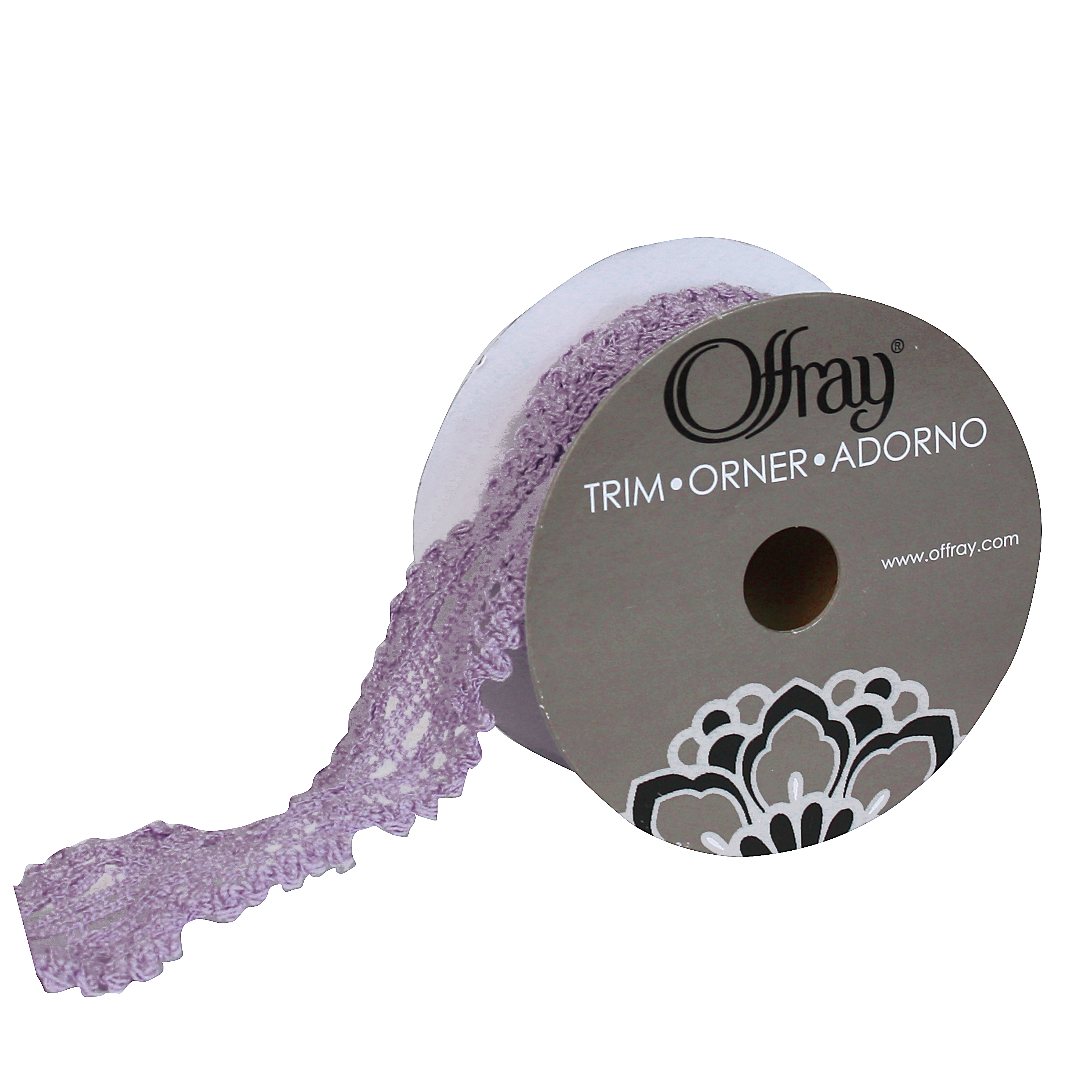 OFFRAY TRIM PURPLE VENICE LACE 1.5 INCHES X 3 YARDS