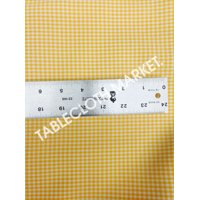 "MINI CHECKERED GINGHAM POLYESTER FABRIC BY YARD 60"" INCH PICNIC 6 Colors"", (Color: Yellow)"