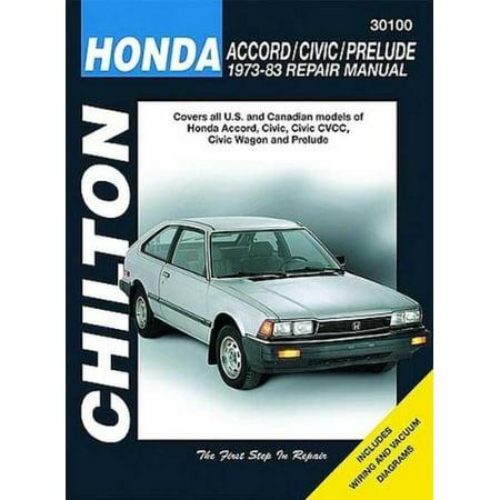 Honda Prelude Manual (Honda Accord, Civic, and Prelude, 1973-83 (Chilton Total Car Care Series Manuals) )