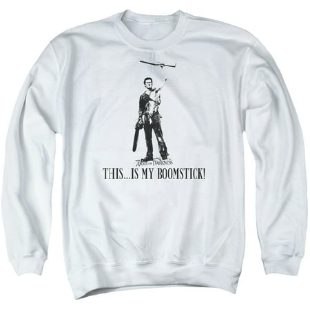 MGM/ARMY OF DARKNESS/BOOMSTICK!-ADULT CREWNECK SWEATSHIRT-WHITE-MD