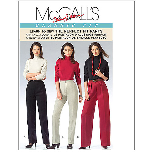 McCall's Pattern Misses' Pants, BB (8, 10, 12, 14)