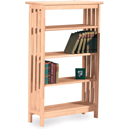 International Concepts 4-Tier Mission Shelf Unit, Unfinished