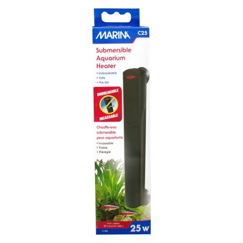 Marina Compact Aquarium Heater, 25-Watt