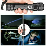 Powerful Flashlight Retractable LED Aluminum Alloy Flashlight USB Rechargeable Waterproof XHP50 Super Bright 5 Modes Zoom Bar Torch for Outdoor Sport (Battery Included)