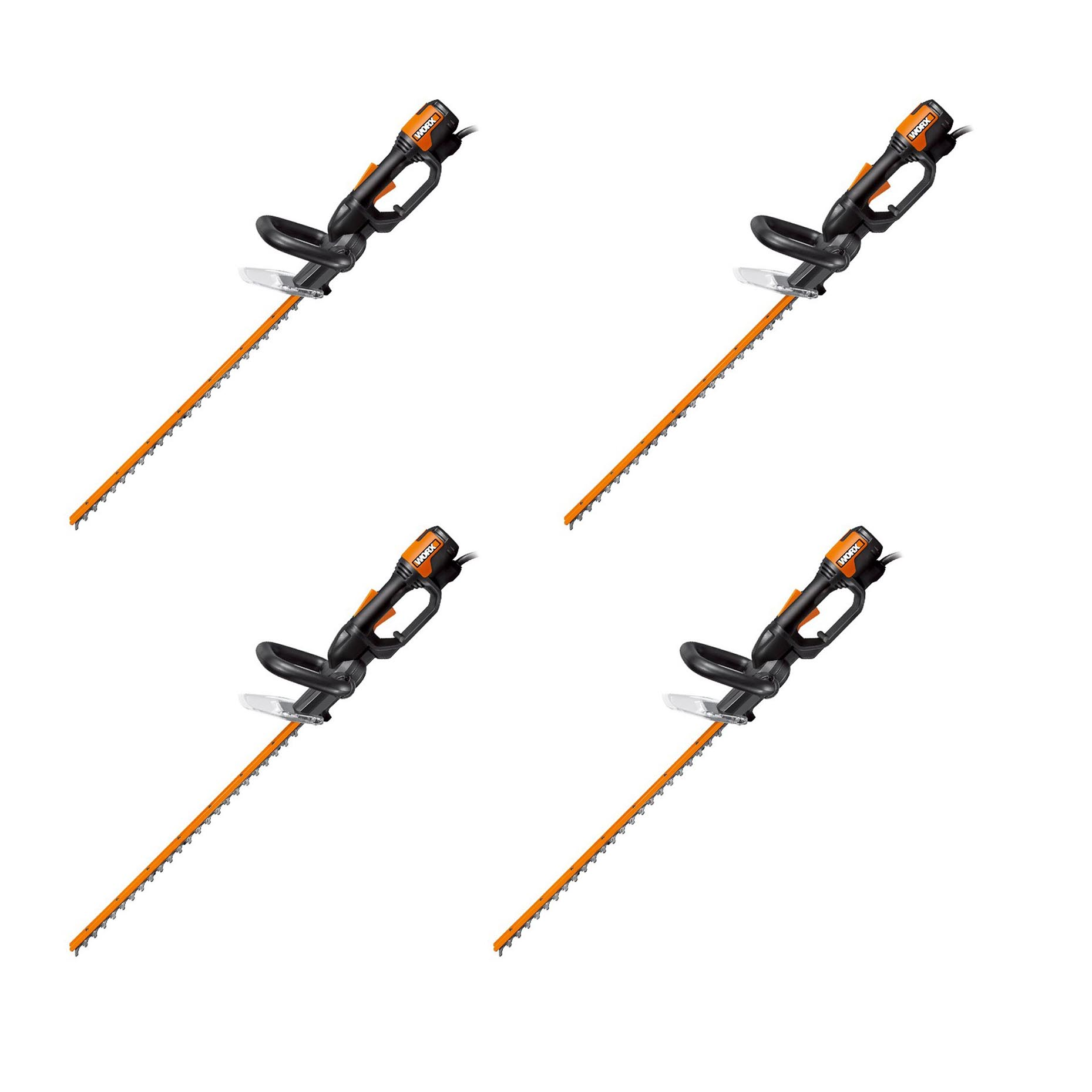 Worx WG209 24 Inch 4 Amp Lightweight Corded Electric Hedge Trimmer (4 Pack) by WORX