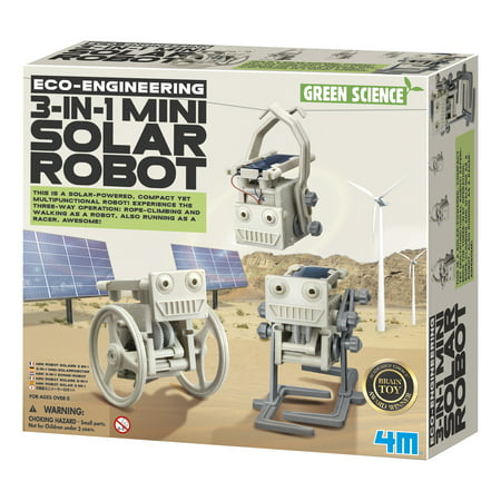 4M Green Science Eco-Engineering 3-In-1 Mini Solar Robot Kit - Make Your Own Robot Kit
