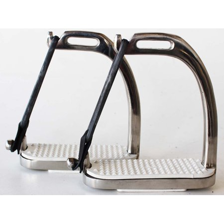- Horse Saddle Adult Children English  Safety Peacock Iron Stirrups 4 3/4