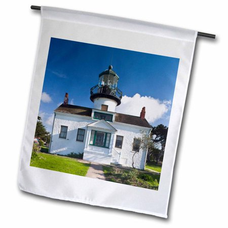 Point Pinos Lighthouse - 3dRose California, Monterey, Point Pinos Lighthouse - US05 WBI1192 - Walter Bibikow - Garden Flag, 12 by 18-inch