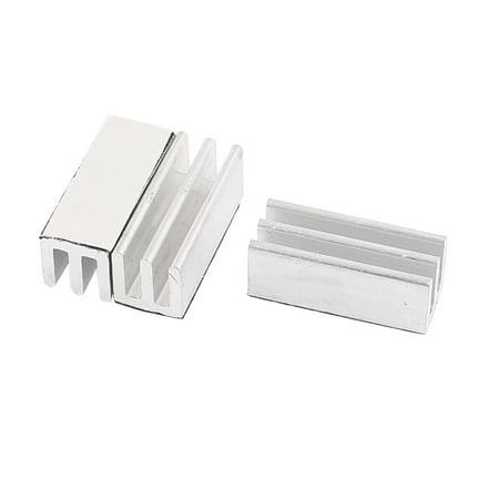 3Pcs 25 x 10 x 10mm Aluminum Extruded Heatsink Chip CPU VGA RAM  IC Radiator
