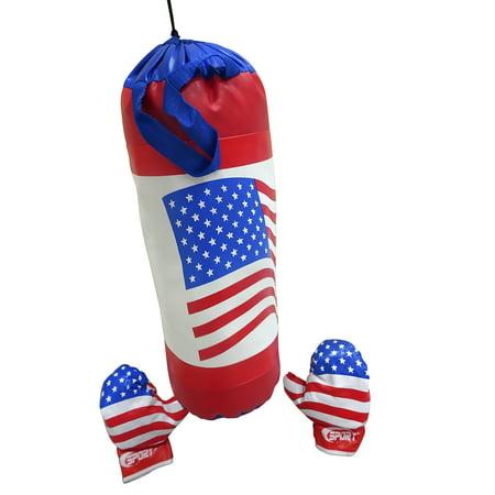 Kids Punching Bag & Boxing Gloves