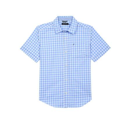 Boy's Gingham Cotton Blend Shirt