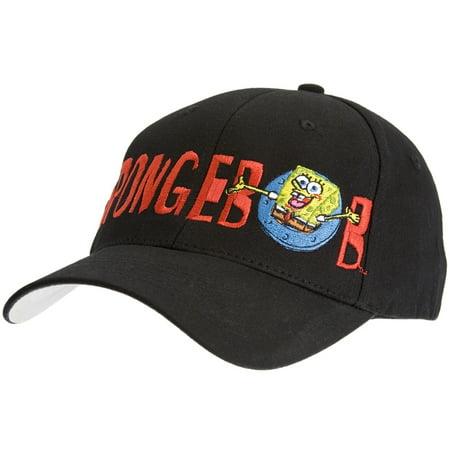 Spongebob - Popping Out Flex-Fit Baseball Cap - Spongebob Hat