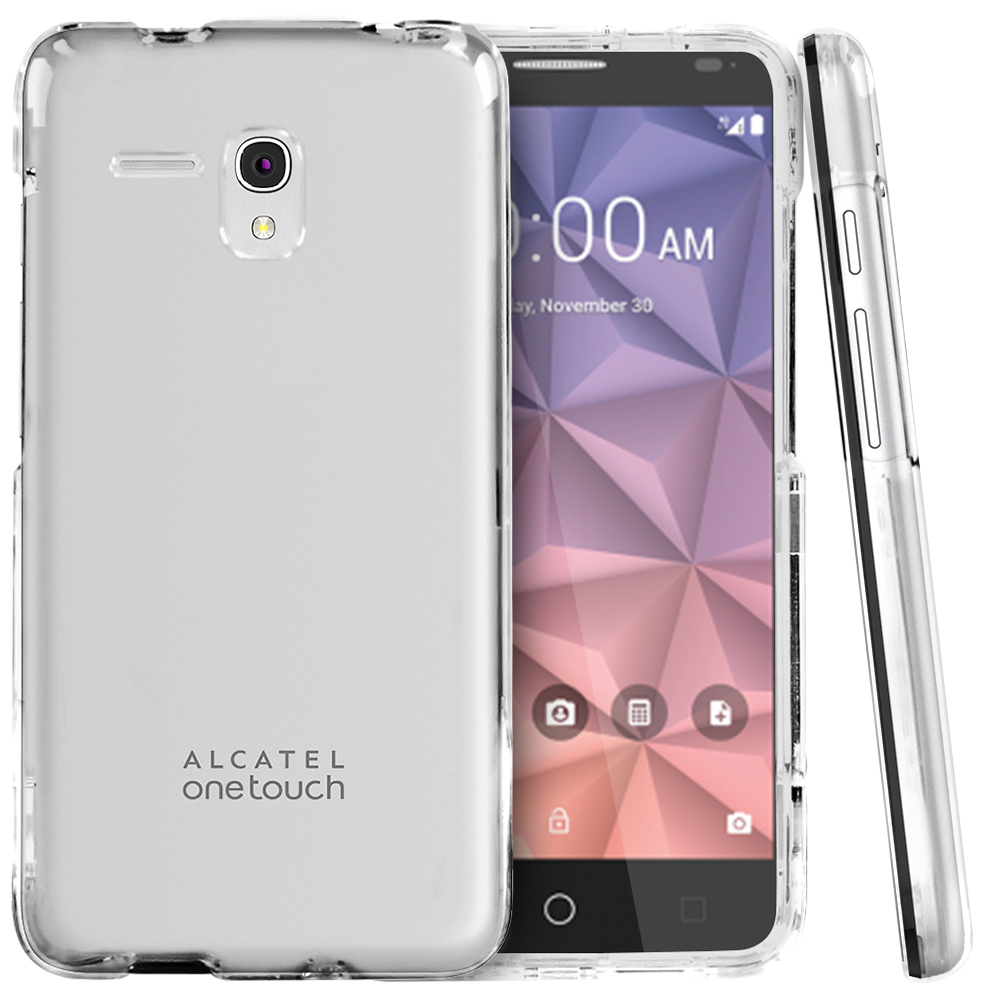 Alcatel OneTouch Fierce XL Case, [Clear] Slim & Protective Crystal Glossy Snap-on Hard Polycarbonate Plastic Case Cover