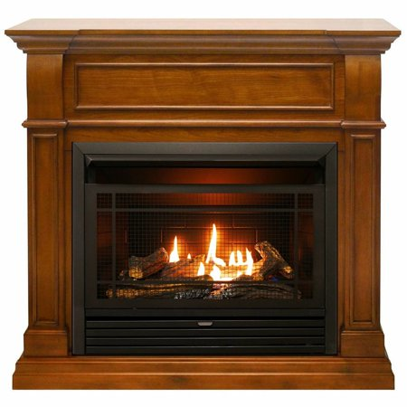 Duluth Forge Dual Fuel Ventless Gas Fireplace - 26,000 BTU, T-Stat Control, Apple Spice Finish ()