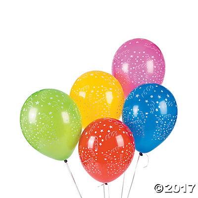 "Celebration Print 11"" Latex Balloon Assortment"