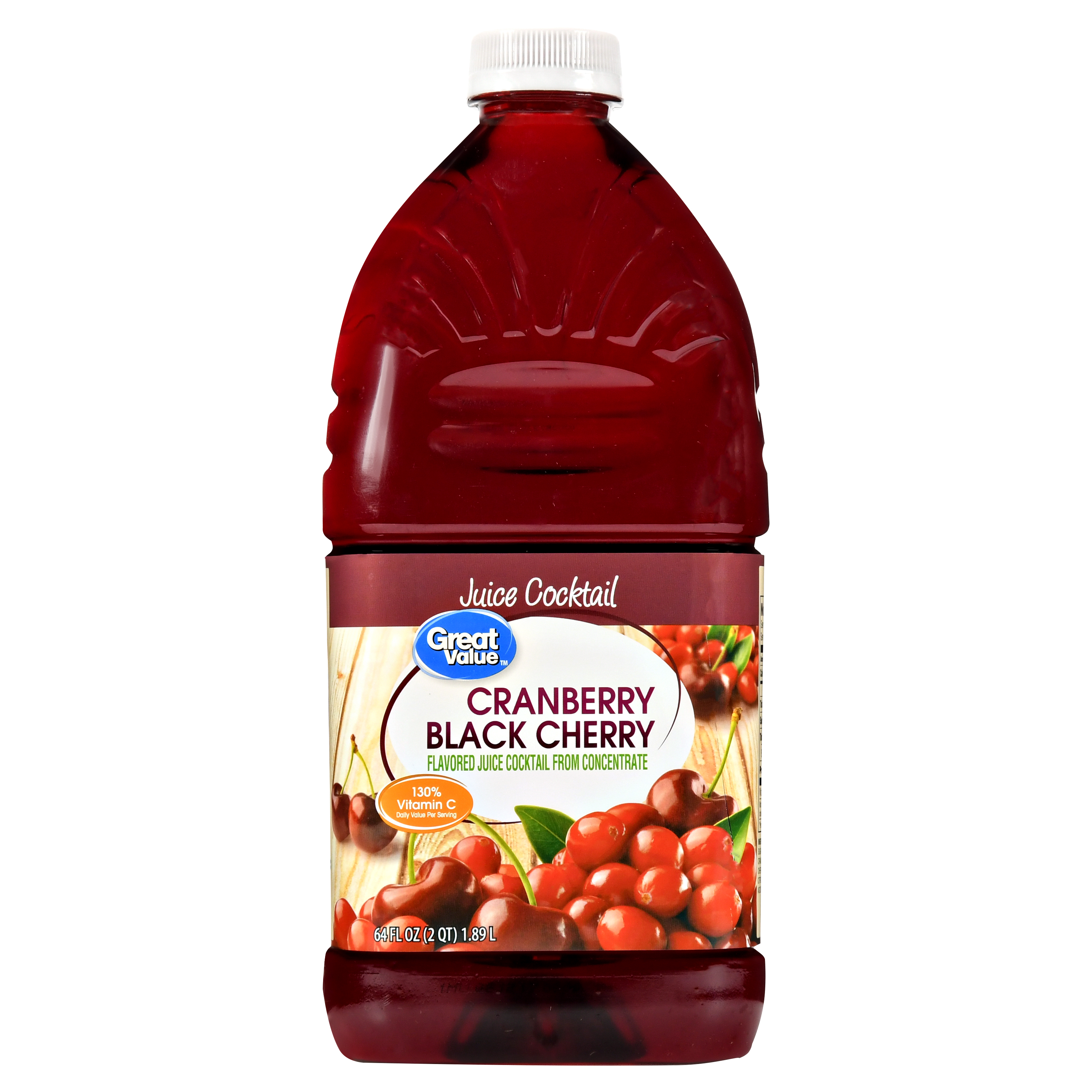 (2 Pack) Great Value Juice Cocktail, Cranberry Black