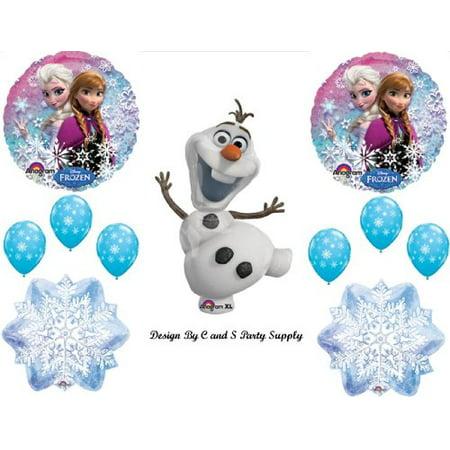 1 X Frozen Olaf #2 Snowman Disney Movie BIRTHDAY PARTY Balloons Decorations Supplies (Disney Frozen Birthday Decorations)