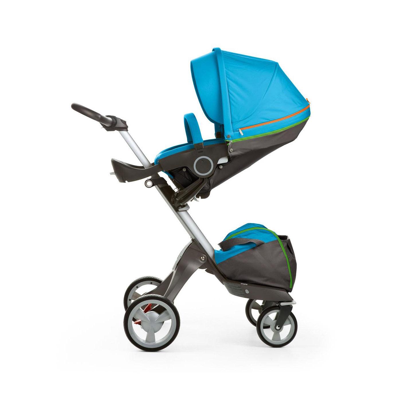 Stokke XPLORY V4 Baby Stroller in URBAN BLUE