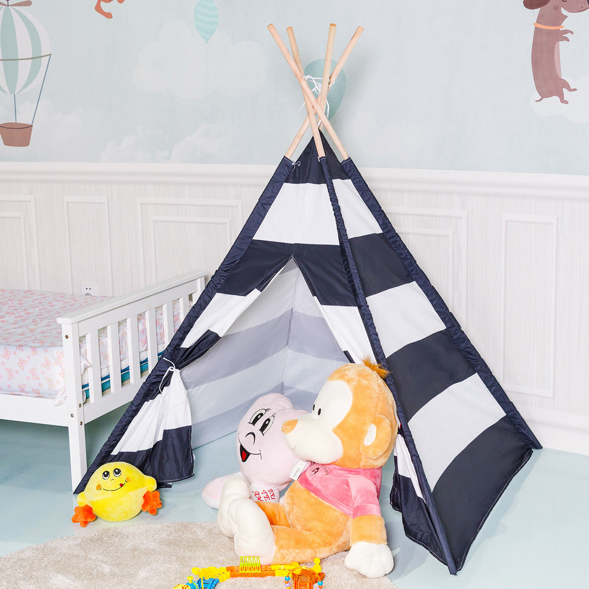 Gymax 5u0027 Indian Play Tent Teepee Children Playhouse Sleeping Dome Portable Carry Bag  sc 1 st  Walmart & Gymax 5u0027 Indian Play Tent Teepee Children Playhouse Sleeping Dome ...