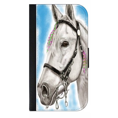 Watercolor White Horse Phone Case Compatible With The Samsung Galaxy