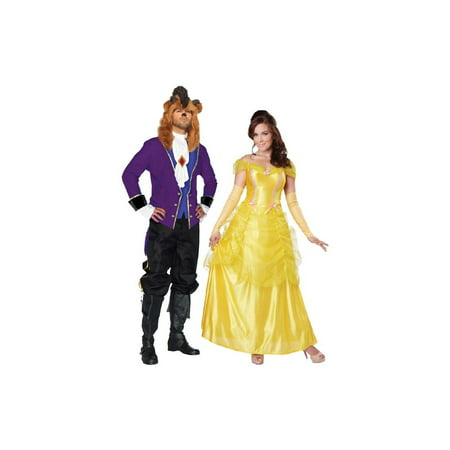 Beauty and the Beast Costume Xlarge Couple Kit (Couples Costums)