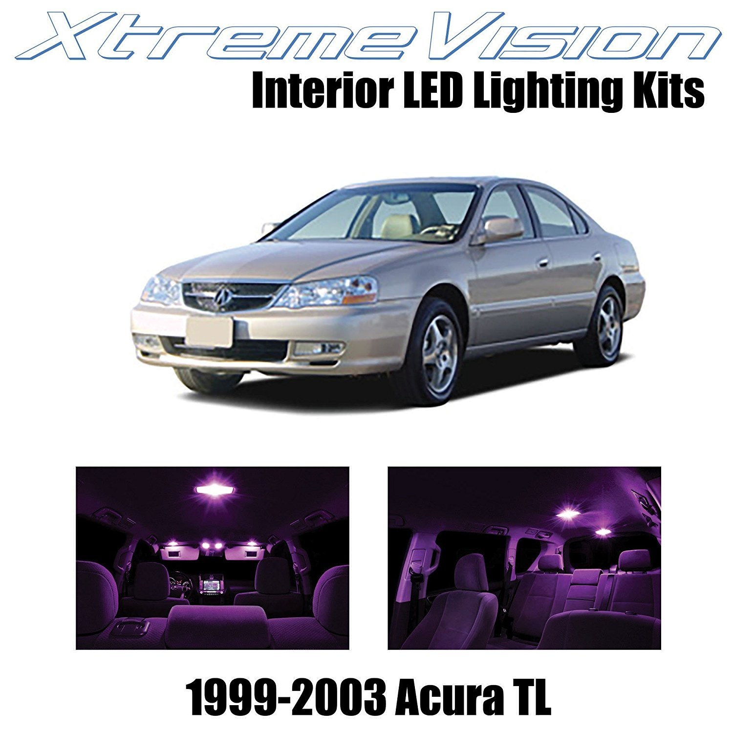 XtremeVision LED For Acura TL 1999-2003 (10 Pieces) Pink