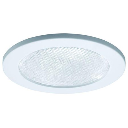 - RE-4055WH 4 in. Recessed Lighting Shower Trim with Prismatic Glass Lens - White