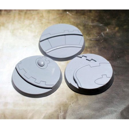50mm Beveled Bases - Ghost Stone New