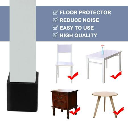 """Desk Chair Table Leg Caps End Tip Home Furniture Protector 30pcs 1""""x1"""" (25x25mm) - image 3 de 7"""