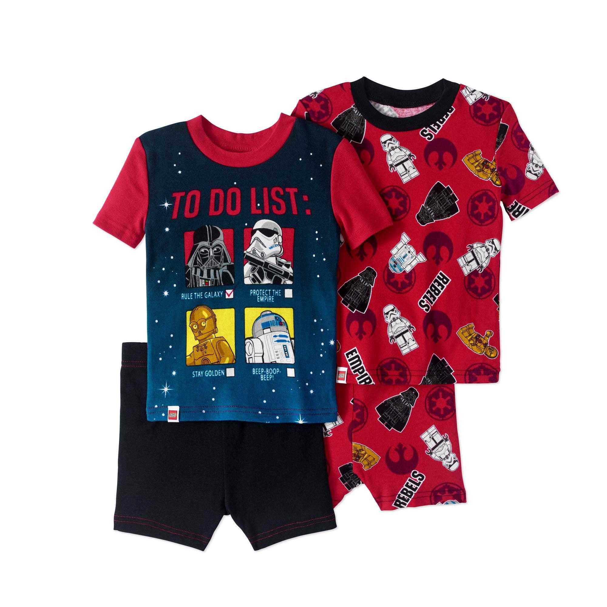 Lego Star Wars Boys' 4 Piece Pajama Short Set