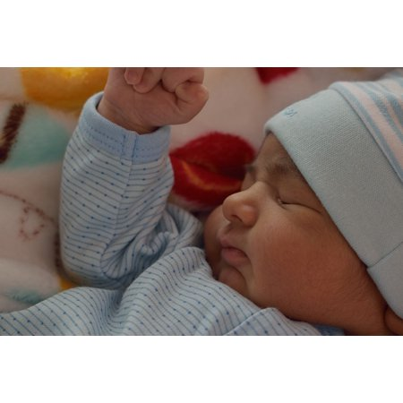 LAMINATED POSTER Child Hands Baby Sleep Asleep Face Peaceful Head Poster Print 24 x