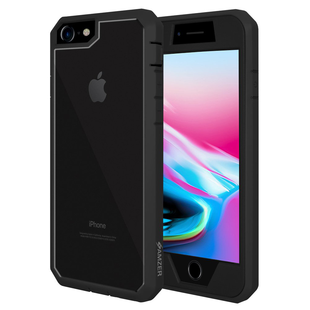 Amzer Full Body Hybrid Case Cover With Built In Screen Protector for iPhone 8