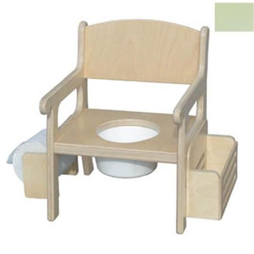 Little Colorado 028PG Handcrafted Potty Chair with Accessories in Pastel Green