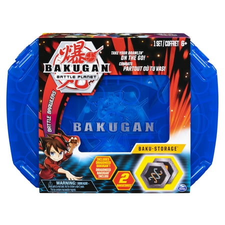 Bakugan, Baku-storage Case (Blue) for Bakugan Collectible Action Figures, for Ages 6 and Up