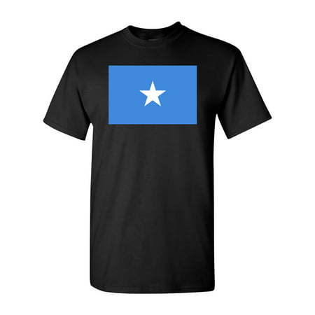 Somalia Country Flag Adult DT T-Shirt Tee ()