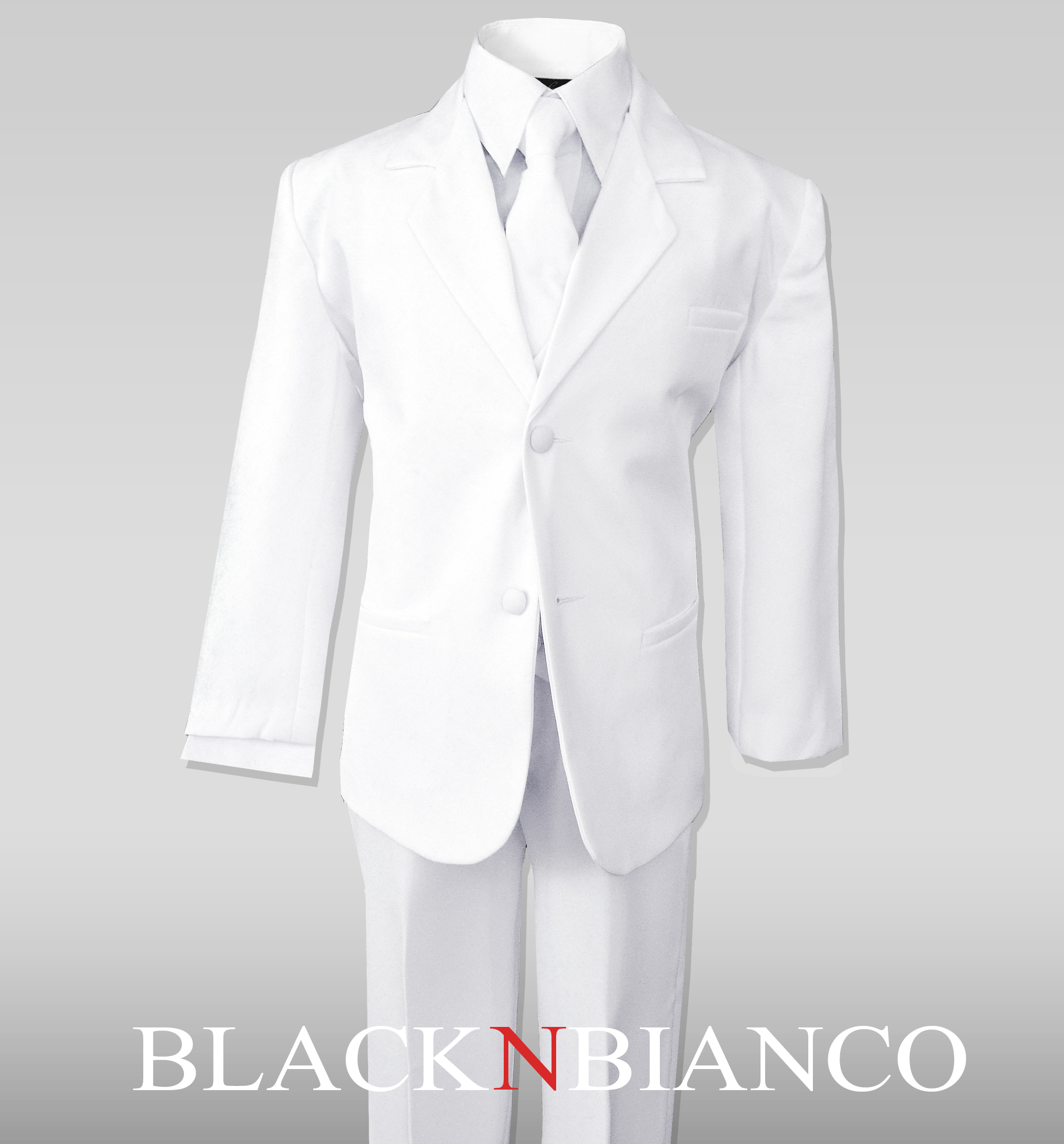 Big Boys Suits in White Complete Outfit Set