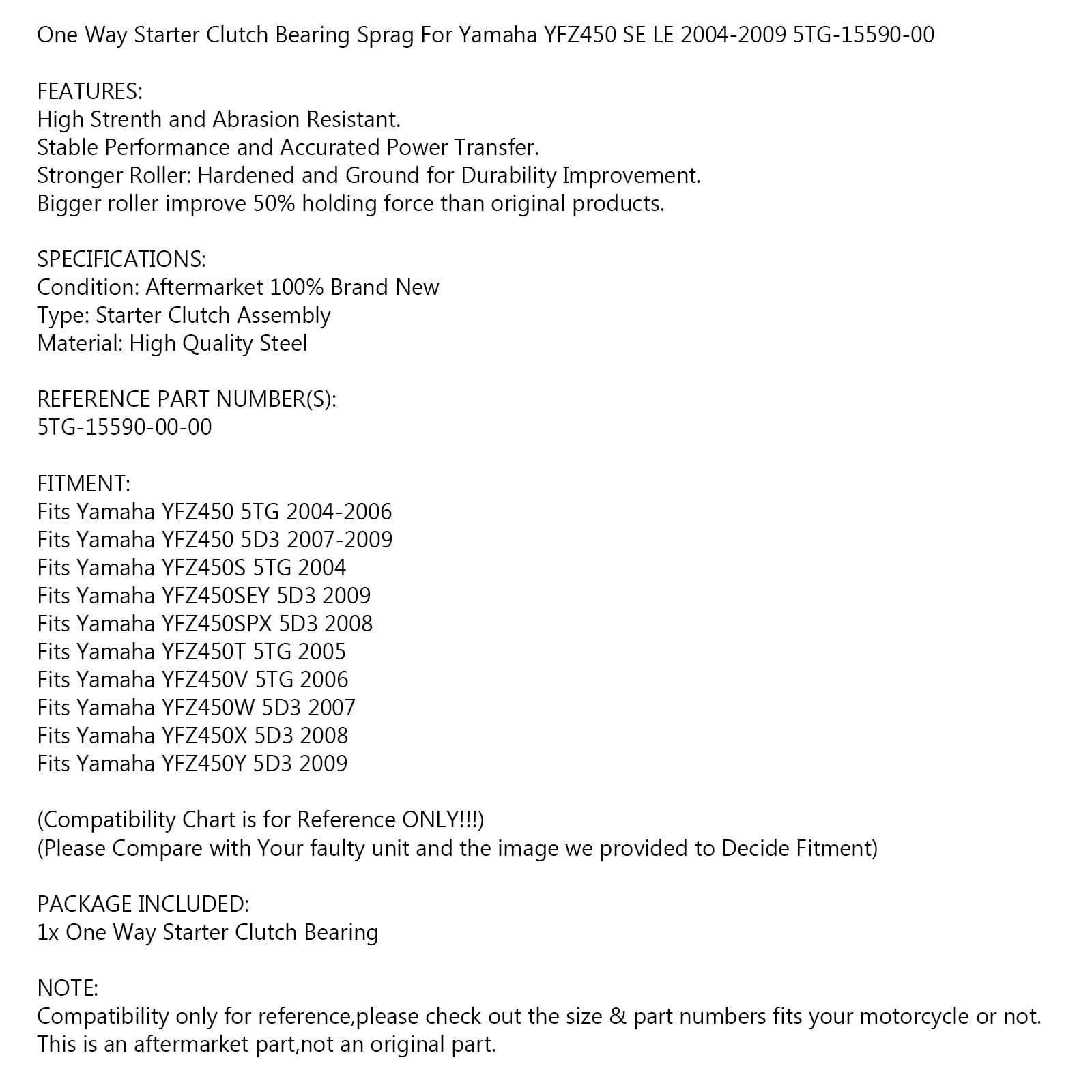 High Performance CDI Box For Yamaha YFZ 450 LE SE 2004 2005 2006 2007-2009 NEW