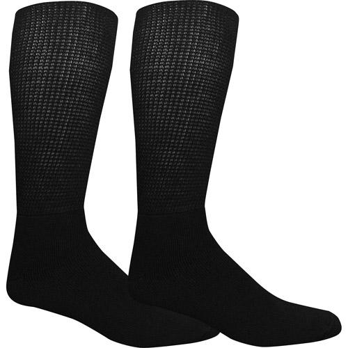 Dr. Scholl's Men's Diabetic and Circulatory Wide Leg Socks 2 Pack