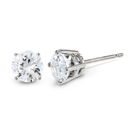 14k White Gold .25ct I1 J K Diamond Stud Push On Post Earrings St Type Fine Jewelry Gifts For Women For Her - image 5 de 5