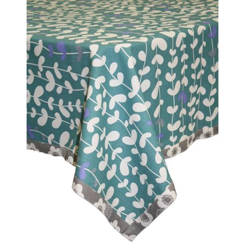 ASD Living Organic Cotton Blue Vines Square Tablecloth 60 X 60