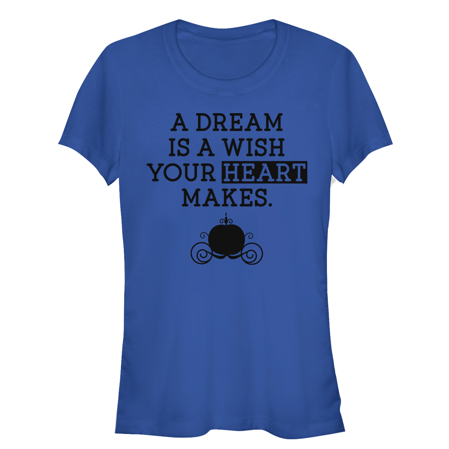 cinderella juniors' a dream is a wish your heart makes t-shirt