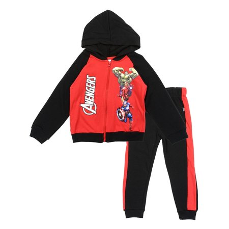 Marvel Little Boys' Avengers Hoodie and Pants Set, Red/Black (4)](Black Widow Marvel Outfit)