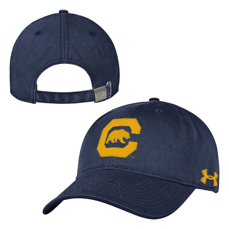UC Berkeley Cal Embroidered Under Armour C Block Retro Hat - Navy