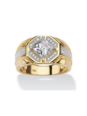 8a2b7e0f6 Product Image Men s 1.44 TCW Square-Cut Cubic Zirconia Octagon Ring in 14k  Gold over Sterling Silver