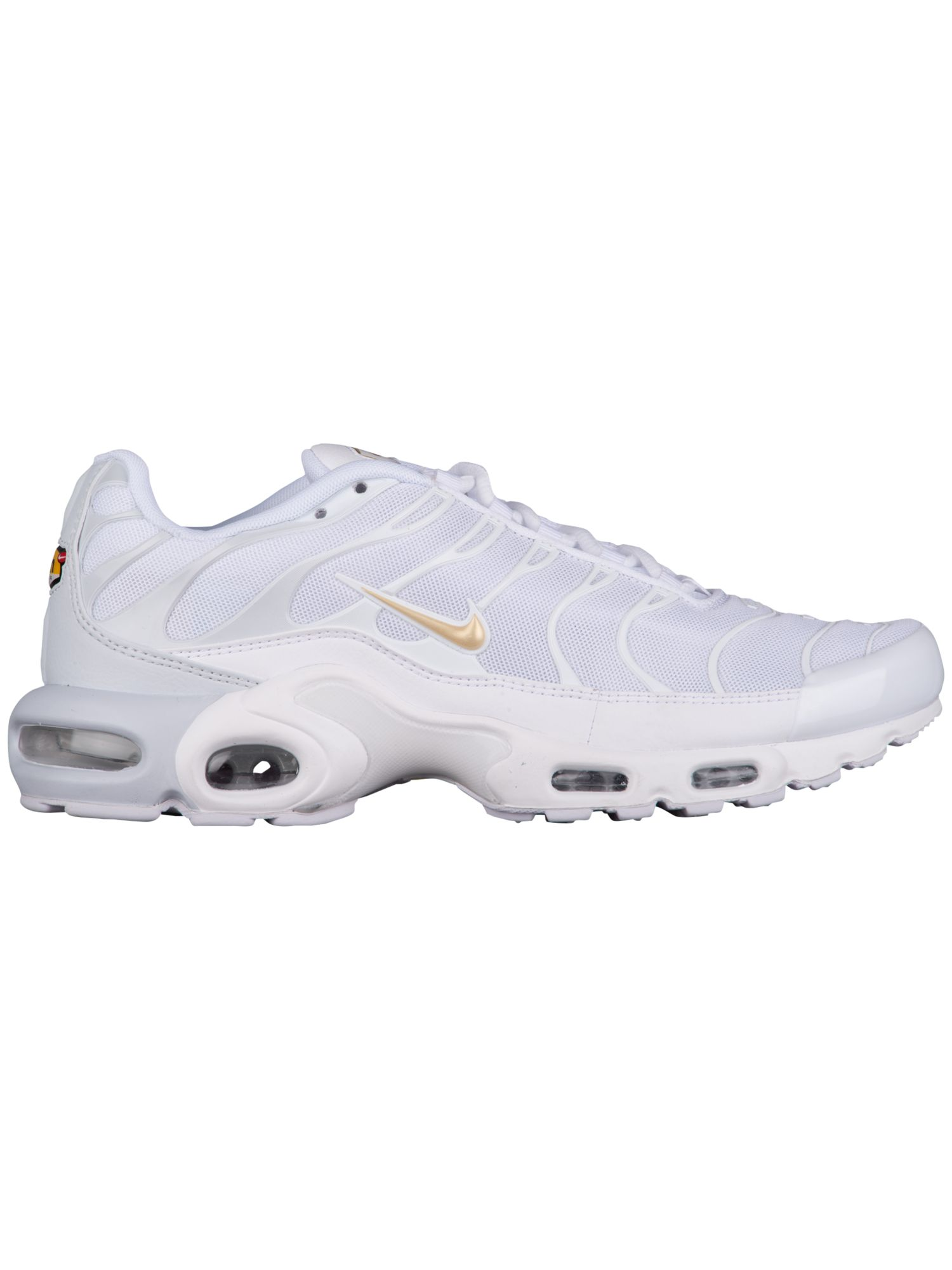 super popular 6f1a8 c73f7 Nike Air Max Plus Men's Running Shoes Pure Platinum/Metallic Gold/White