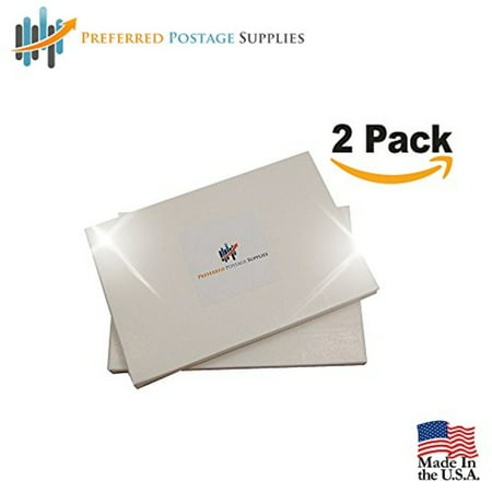 Money Saver 2-Pack (200 Labels) (USPS Approved) Double Postage Meter Tapes 5.5 x 3.5 Compares to Pitney Bowes 612-0, 612-7, 612-9 & 620-9 Postage Meter Tape 05204 2 labels/Sheet ()